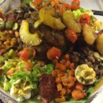 Lamb shoulder w/ Veggies and Salads (Moroccan). By Nadia El