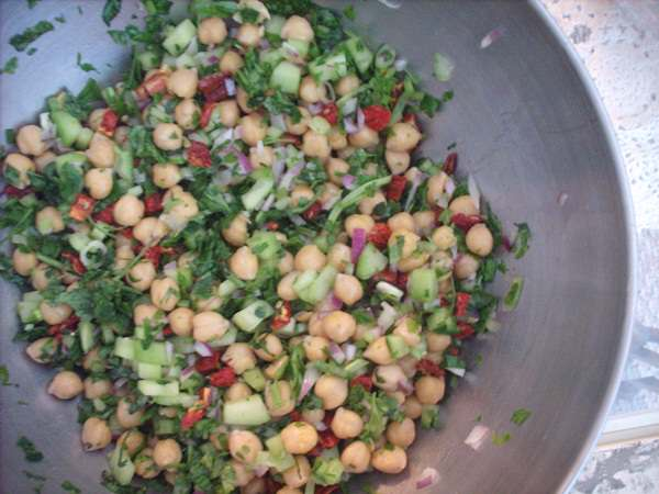 Chickpea and Sun Dried Tomato Salad | Yvonne Maffei, My Halal Kitchen Summer Recipes