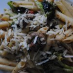 Basil and vegetables  Penne