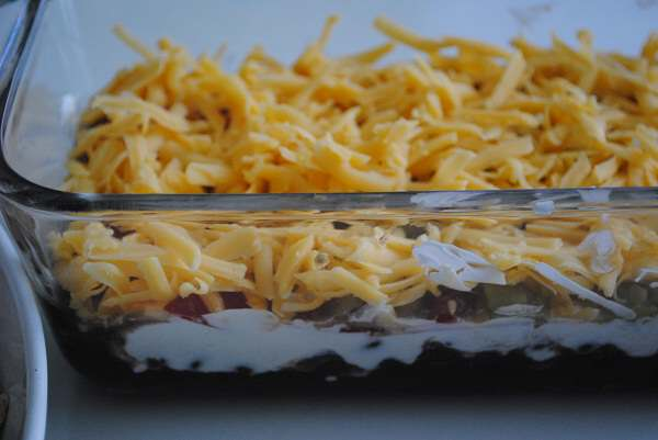 Five Layer Black Bean Dip + Homemade Tortilla Chip Recipes - My Halal ...