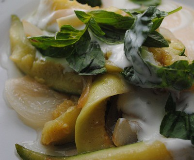 Zucchini, Yogurt and Basil