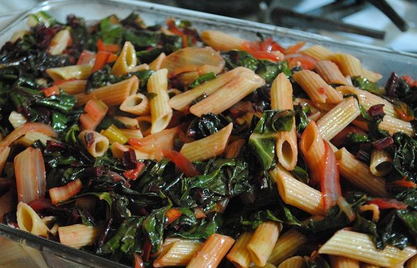 Penne Pasta with Swiss Chard and Beet Leaves | My Halal Kitchen