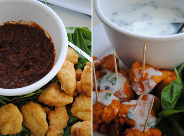 2 Easy Dips for 'Eid Appetizers: Chipotle Dipping Sauce and Yogurt Dip with Fresh Greens