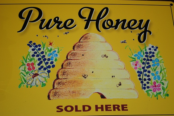pure honey sign