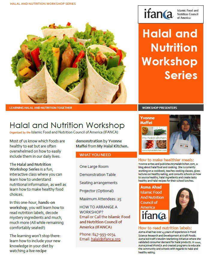 Halal Nutrition Workshops with IFANCA
