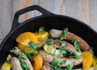 Chicken Sausages with Heirloom Tomatoes   My Halal Kitchen
