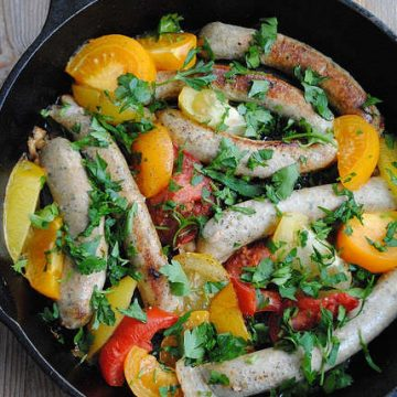 Chicken Sausages with Heirloom Tomatoes | My Halal Kitchen