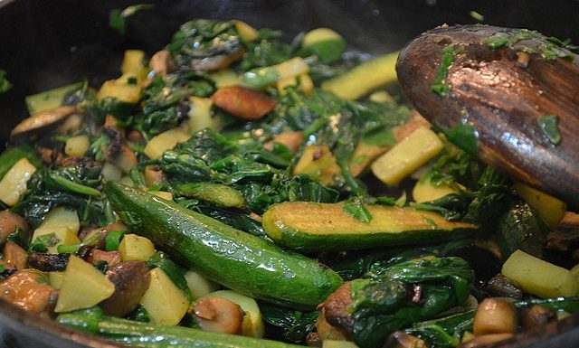 Sauteed Spinach and Zucchini | My Halal Kitchen