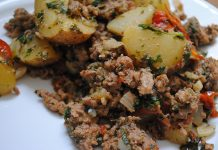 Ground Turkey with Potatoes and Mint | My Halal Kitchen