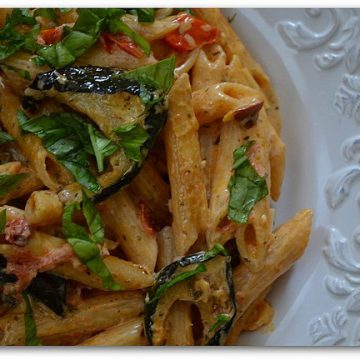 Creamy Pasta with Roasted Vegetables   My Halal Kitchen