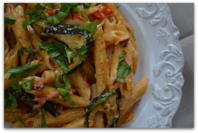 Creamy Pasta with Roasted Vegetables | My Halal Kitchen