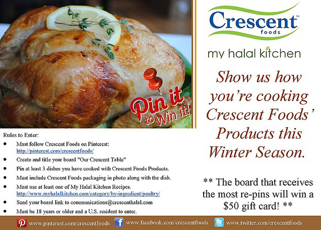 Pin it to Win it with Crescent | My Halal Kitchen