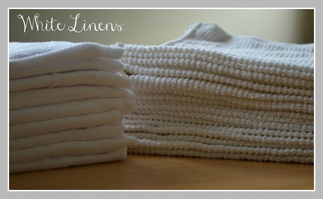 White Linens   My Halal Kitchen- Cleaning