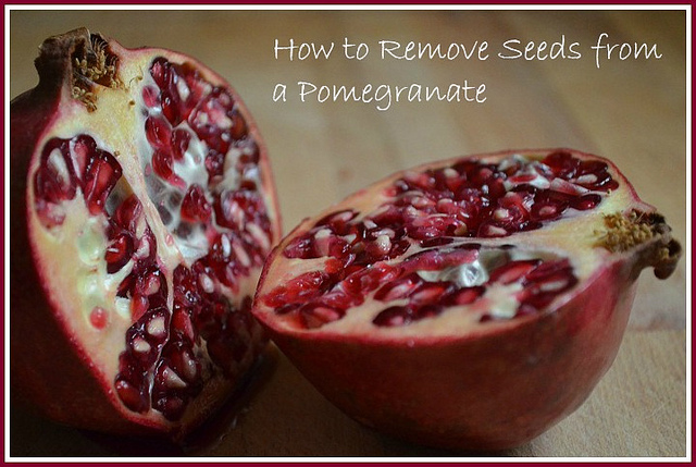 How to Remove Seeds From a Pomegranate + Make Pomegranate Punch