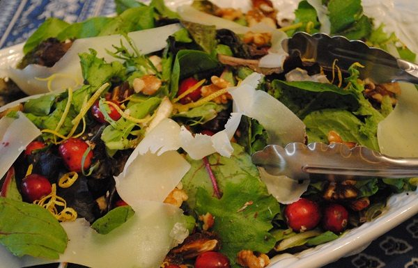 Winter Salad with Cranberries | My Halal Kitchen