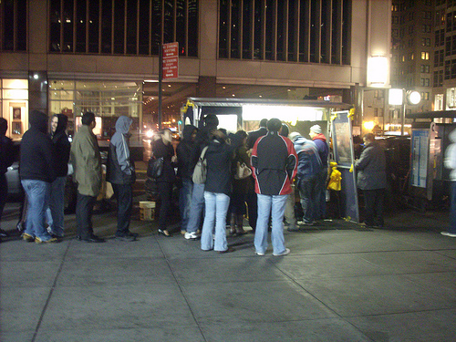 A NYC Halal Cart Known By Its Street Address