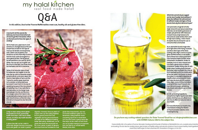MHK Recipes and a Q & A Column in SISTERS Magazine