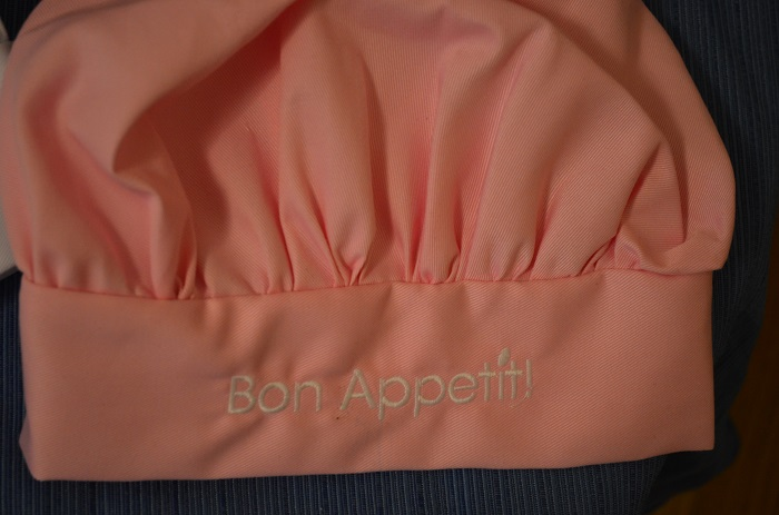 Bon Appetit kids chef hat in pink