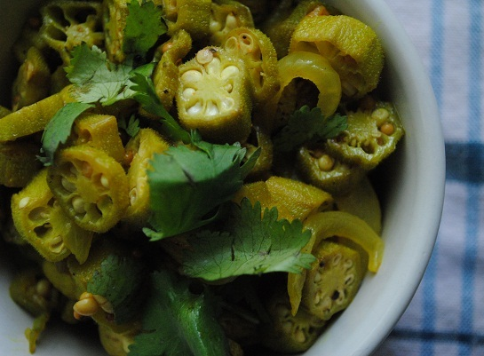 Okra, South Indian Style