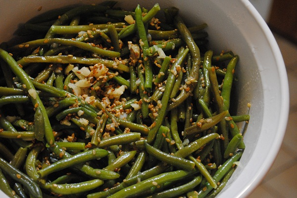 French Beans with Garlic, Cumin and Toasted Sesame