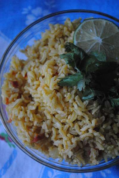 Brown Basmati Rice with Saffron & Ghee