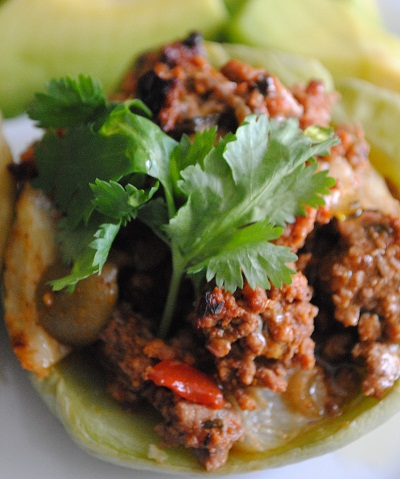 Stuffed Chayote with Carne Molida | Caribbean Squash with Ground Beef