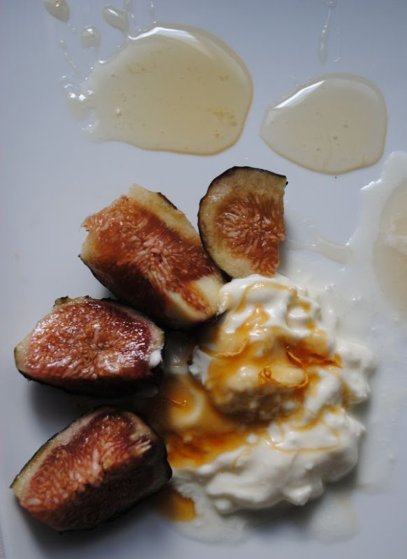 Creme Fraiche, Figs and Honey