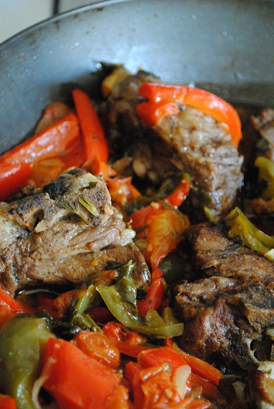 Italian Lamb with Peppers