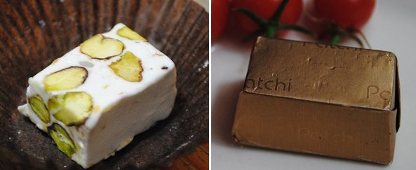 patchi nougat and square