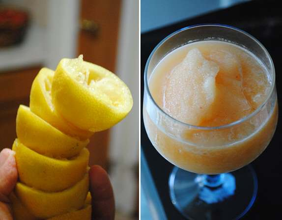 Peach Lemonade Slush by Yvonne Maffei of My Halal Kitchen