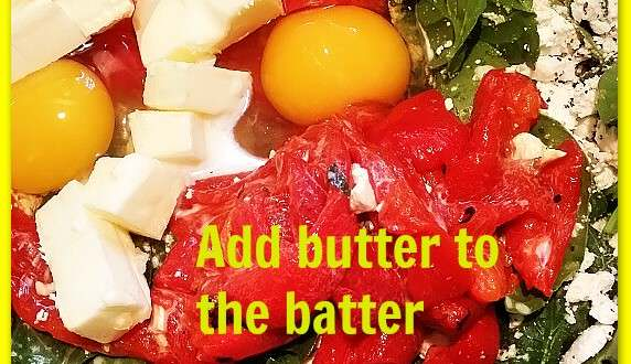 Add butter to the batter
