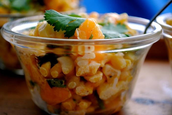 Corn mango and chili salad cups   My Halal Kitchen