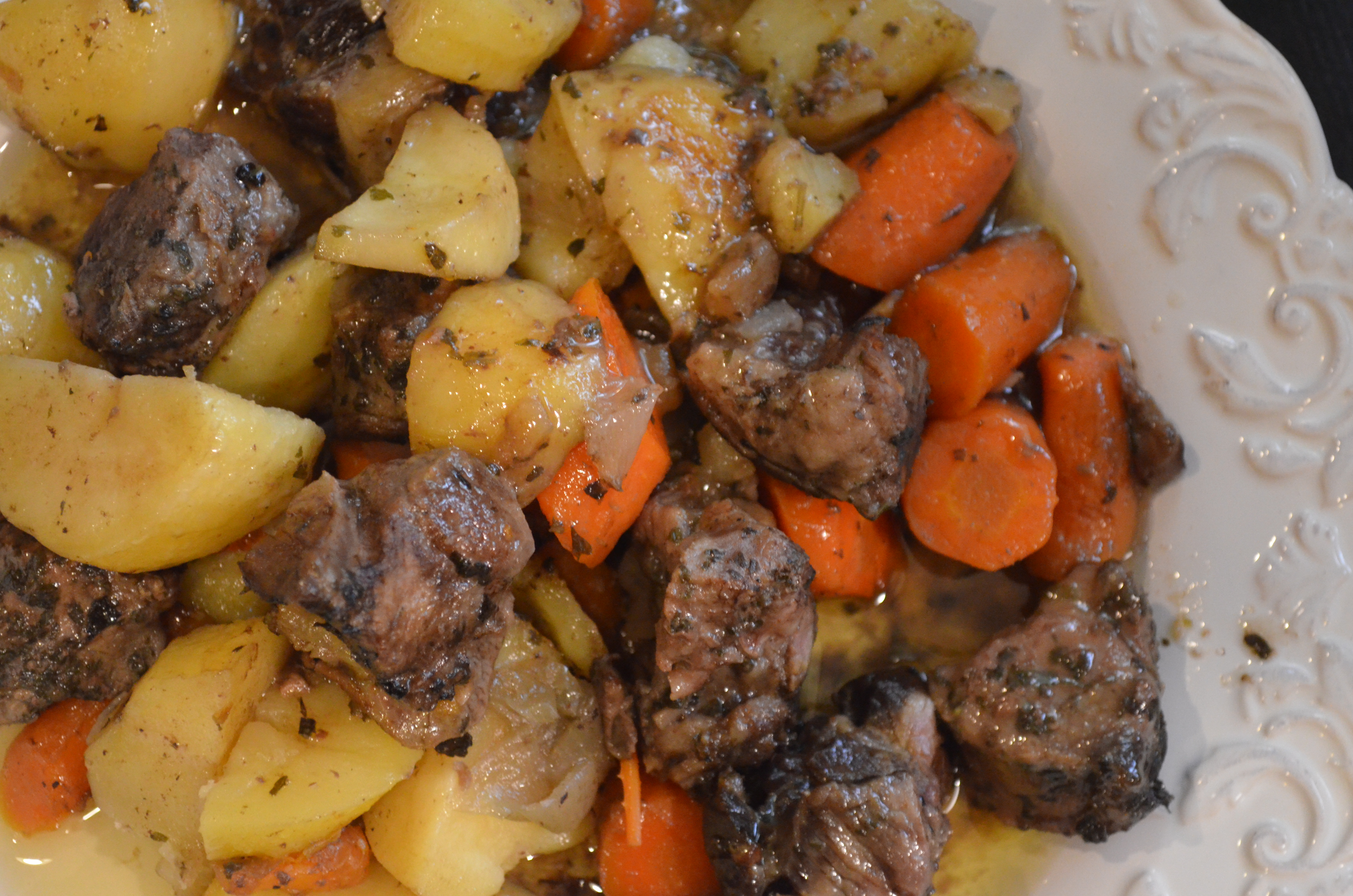 Pan Roasted Lamb and Potatoes - My Halal Kitchen by Yvonne Maffei- for Cooked Lamb Meat  45hul