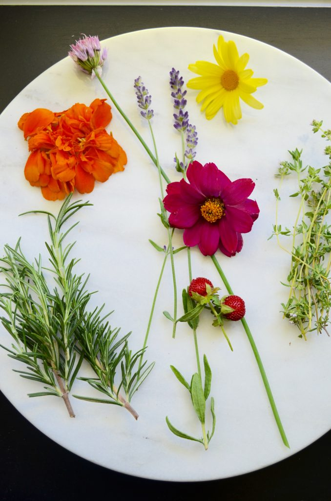Flowers for Cheese Platter