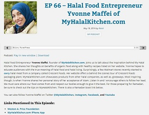 EP 66 – Halal Food Entrepreneur Yvonne Maffei of MyHalalKitchen Greedforilm051814
