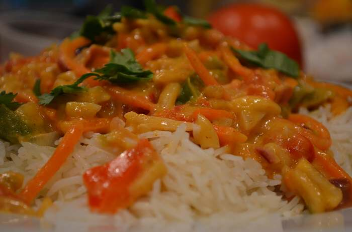 Finished Vegetarian Korma
