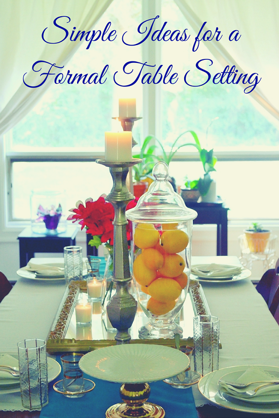 Formal dinner party table - Formal Table Setting 1