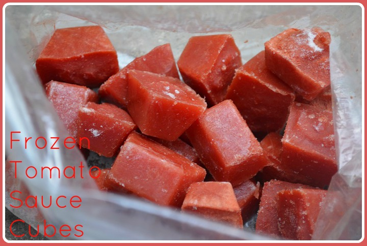 Frozen Tomato Sauce Cubes | My Halal Kitchen