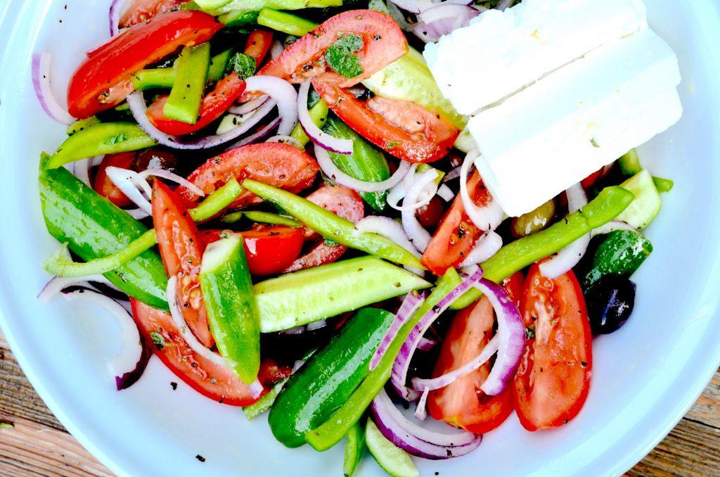 Greek Salad Up Close