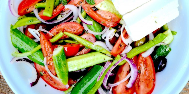 Greek Salad Up Close