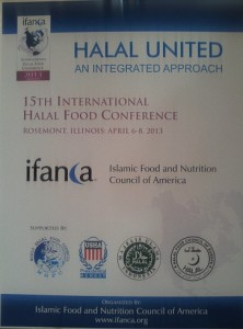 IFANCA's 15th Annual Halal Food Conference 2013