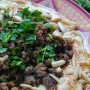 Hummus with Ground Meat in Summer Ramadan Cooking by Yvonne Maffei