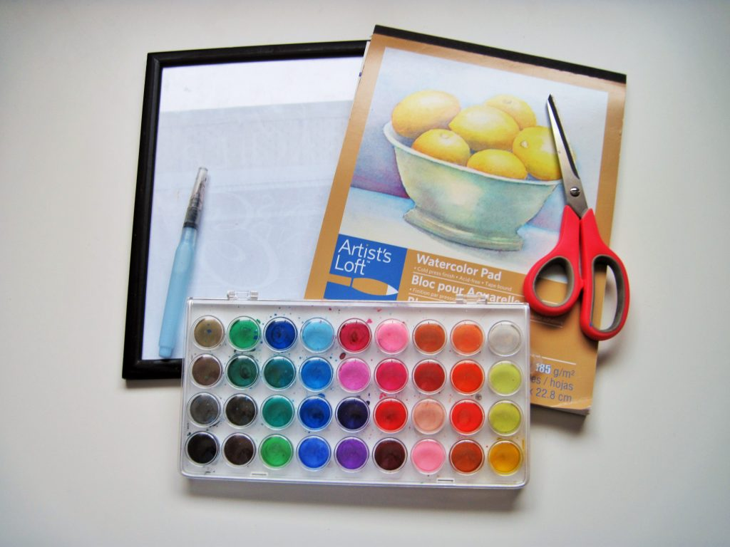 Watercolor Wall Art Materials