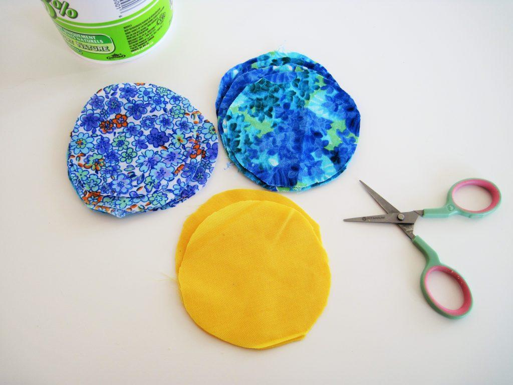 Vintage Floral Coasters Circle Fabrics