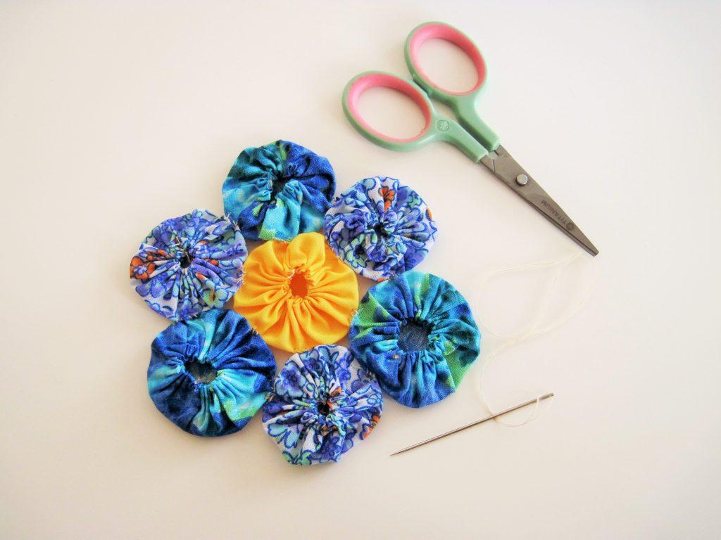 Vintage Floral Coaster Finished