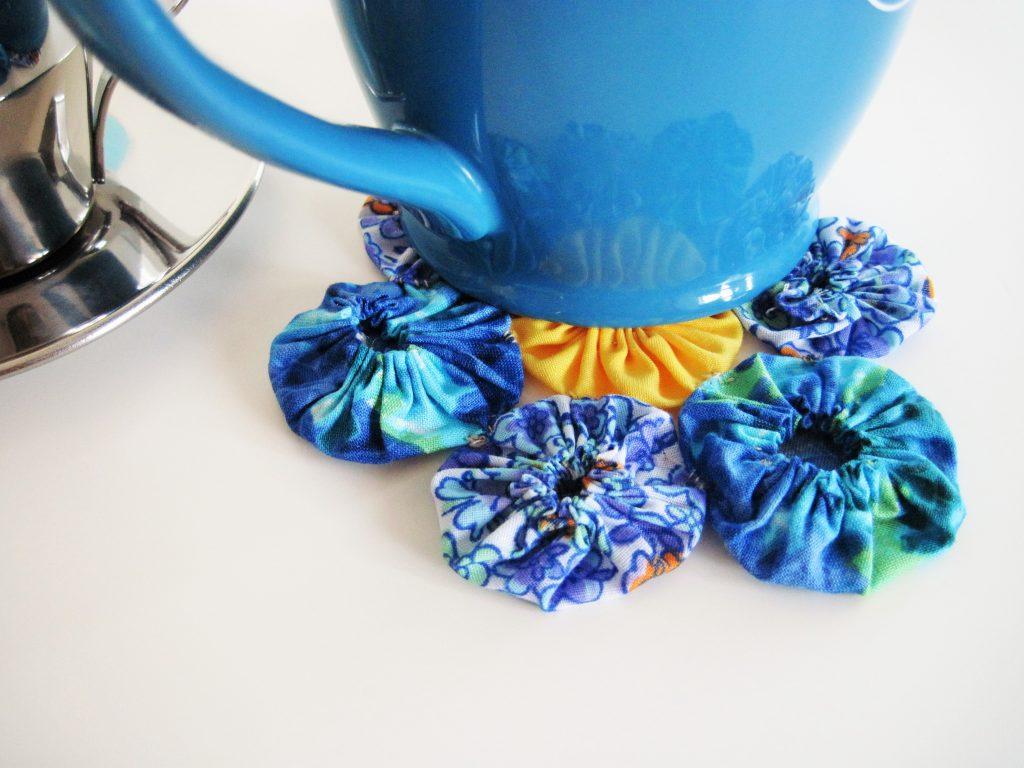 Vintage Floral Coaster with Mug