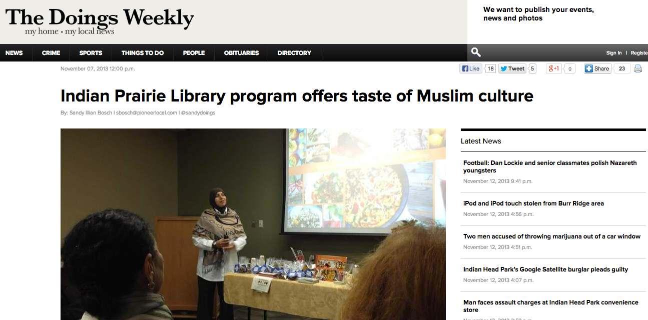 Indian_Prairie_Library_hosts_Muslim_program___The_Doings_Weekly