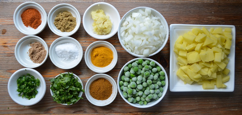 Ingredients for Beef Samosa