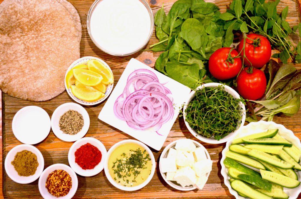 Ingredients for Lamb Kebob Burgers