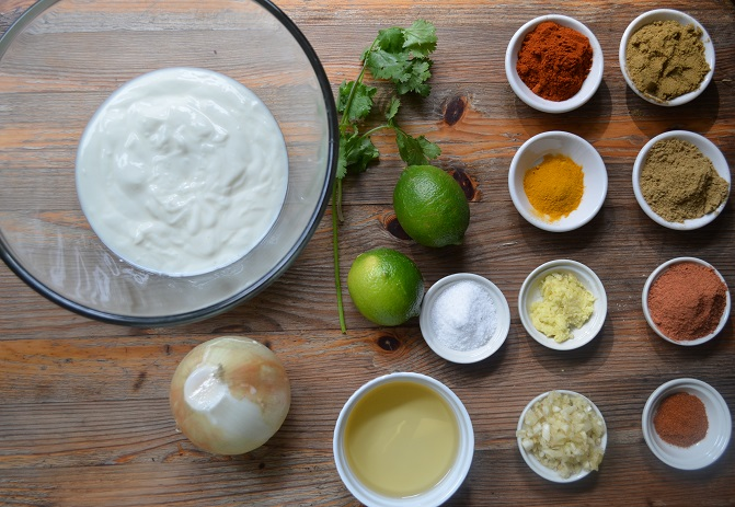 Ingredients for Tandoori Chicken